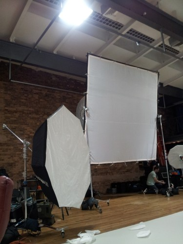New York City - Studio being set-up for the print campaign
