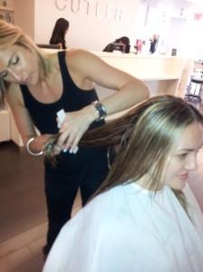 NYC - Jenny Balding cutting my hair at the Cutler Salon