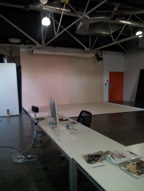 Sydney - the studio, quiet and empty before the day starts