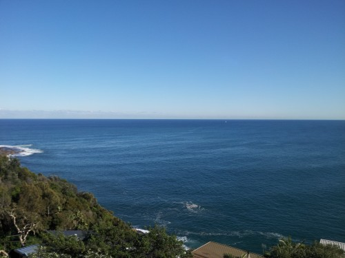 Sydney - Palm Beach, our view of where the ocean meets the sky