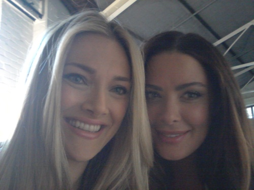 Sydney - Abby Valdez and I working hard and fast on our final day of the Sara shoot