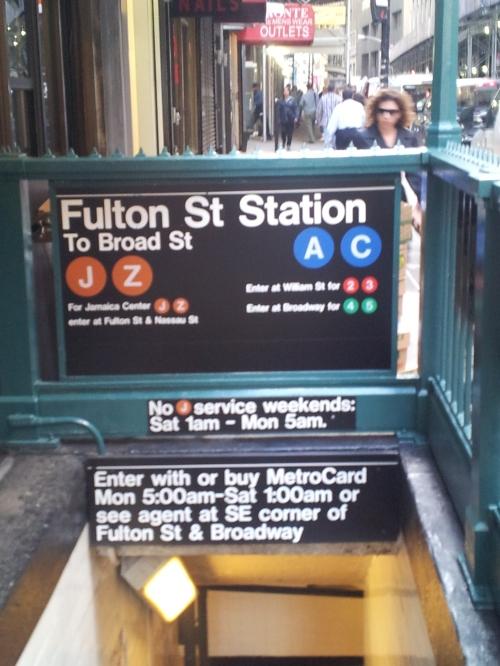 NYC - Fulton Street subway stop