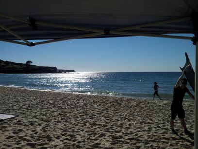 Sydney - Setting up on Coogee Beach
