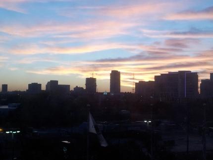 Texas - The sun rising over Dallas