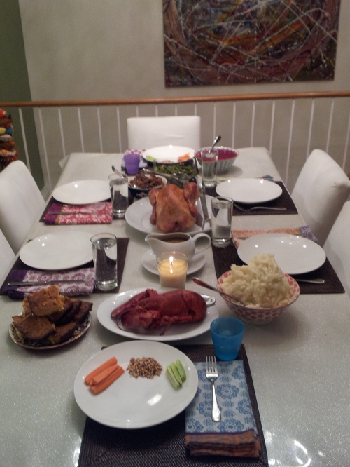 Brooklyn - Our Thanksgiving table