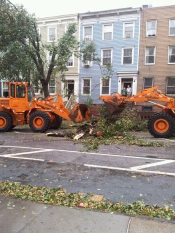 Brooklyn - The clean-up begins