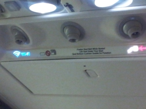 Notice the WiFi sign on planes these days - gone are the No Smoking ones