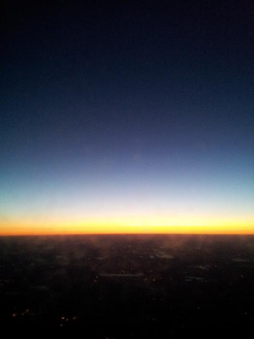 Little Rock, AK - My 6am sunrise from the plane