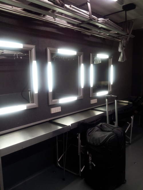 Sydney - our hair & make-up station in our location van