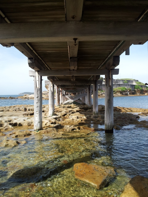 Bare Island - The walkway bridge that connects the Island to the mainland
