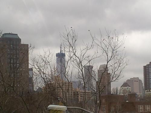 NYC - Gloomy NY before a snow storm hits