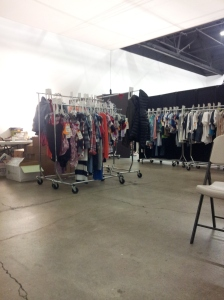 San Francisco - the clothes on the rack for the eight day shoot