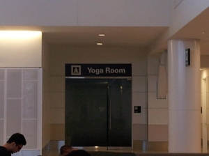 San Francisco - the Yoga Room at American Airlines terminal
