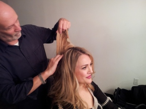 NYC - Bill Westmoreland taking my hair pieces out