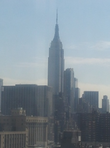 NYC - The view of the Empire State Building outside our studio on the 12th floor