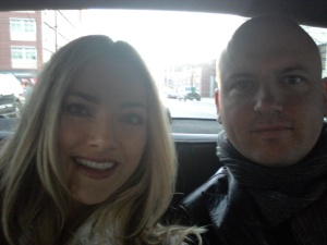 Brooklyn - Steve and I on our way to the Wythe Hotel, Williamsburg