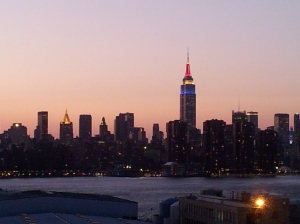 Brooklyn - the view from the roof of the Wythe Hotel at sunset