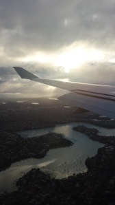Returning from the USA - Sydney spread below