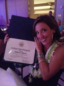 Hawaii - Deb Mascia with her award