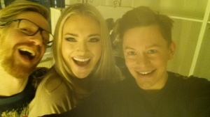 Nuremberg - Kai (stylist), me and Timo (hair & make-up) at the end of our fun shoot