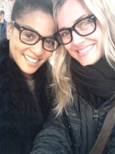 The gorgeous Wendy Brooks & I in 'Crosby' frames
