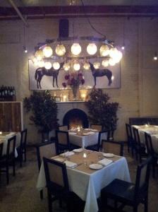 Saxon + Parole dining area