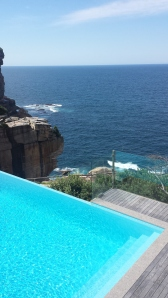The pool was to die for and basically situated on a cliff