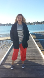 One of the fresh spring looks -- I love my stripes!