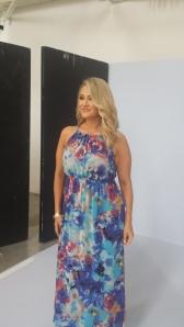 A multi-coloured maxi dress ready for high summer