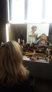 Hair and make-up final touches
